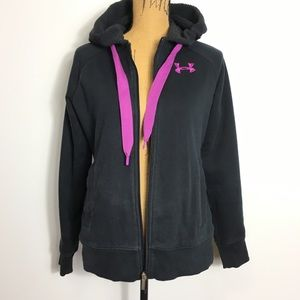 Under Armour Semi-Fitted Black Zip-Up Hoodie S/P